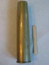 Vietnam-era 105MM brass 1961 projectile shell casing in Fort Carson, Colorado