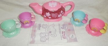 my little pony magic tea set teapot 4 cups 4 saucers disappearing singing talks in Westmont, Illinois