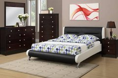 New Full or Queen White and Black Bed Frame FREE DELIVERY starting in Camp Pendleton, California