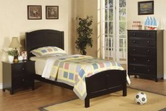 New Black Hardwood TWIN Bed + Chest + Nightstand FREE DELIVERY in Miramar, California