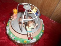 "Vintage Wind-Up Musical Merry-Go-Round with Children! Plays tune of: ""THIS OLD MAN"" in Spring, Texas"