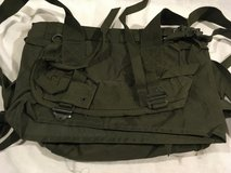 chinese military olive drab 14 x 14 nylon detachable back straps field pack  02364 in Huntington Beach, California