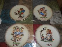 (4) Vintage M J HUMMEL GOEBEL Annual Porcelain Plates 1973, 1976, 1977, and 1978! Very Collectible in Bellaire, Texas