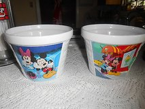 2 New Ceramic Disney Houston Harvest Mickey Mouse & Minnie Mouse Bowl Pot Planter Measures appro... in Kingwood, Texas
