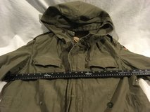 vintage german military olive drab green heavy field cold weather coat w/o liner  02371 in Huntington Beach, California
