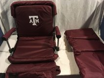 nwt ncaa collegiate texas a/m home color stadium padded chair / matching blanket  02386 in Huntington Beach, California