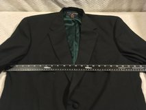 tommy hilfiger black green lined tuxedo 46l tux formal sport coat blazer  02317 in Huntington Beach, California