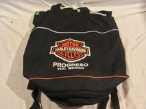 official harley davidson progreso yuc. mexico black orange soft travel bag  02291 in Huntington Beach, California