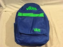 nwot vans blue green mixed 12 x 19 shoulder straps two compartment backpack  02293 in Huntington Beach, California