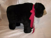 HEN HOUSE Joyce Ditz Designs Black Bear Footrest with Red Bow ~VINTAGE in Aurora, Illinois