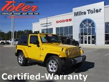 2015 Jeep Wrangler Sahara-Certified-Warranty(14860a) in Cherry Point, North Carolina