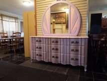 Dresser with Large Mirror*French*Vintage*All Wood*Like New in Rolla, Missouri