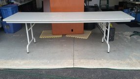 "Heavy duty 96"" L x 30"" W x 30"" H Table with folding legs in Chicago, Illinois"