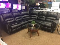 BLACK LEATHER RECLINING SECTIONAL in Pearl Harbor, Hawaii