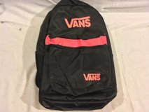nwot vans black pink mixed 12 x 19 shoulder straps two compartment backpack  02294 in Huntington Beach, California