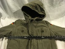 vintage german military olive drab green lined field cold weather coat w/ liner  02372 in Huntington Beach, California