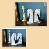Marble/Alabaster Candle Stick & Horse Heads in Chicago, Illinois