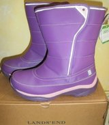 New Lands End Snow Flurry Winter Snow Boots Girls Size 5 Youth Purple in Batavia, Illinois