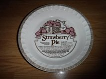 Strawberry Pie Recipe Pie Plate Ironstone by Royal China by Jeannette in Tomball, Texas