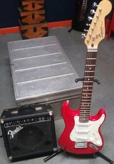 Electric Guitar Package - Squier Mini Strat, Fender Amp, Stand+ in Lockport, Illinois