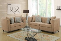 New Sand Tan Velvet Cloth Sofa and Loveseat FREE DELIVERY in Vista, California