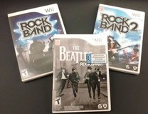 NINTENDO WII - 3 Video Game Bundle: Rock Band, Rock Band 2 & Rock Band Beatles! in Aurora, Illinois