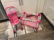 Kids doll stroller and playpen in Beaufort, South Carolina