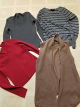 Pullover and open front sweaters in new to like new condition in Oceanside, California