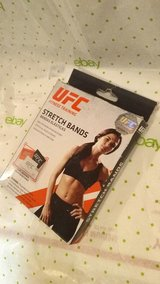 ufc fitness training stretch bands for warmup/recovery, 3 band strengths $19.99. in Yucca Valley, California