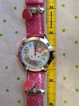 hello kitty beautiful new watch with sparkle band and heart charms! $25.99! in Yucca Valley, California