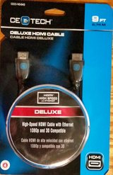 9ft hdmi ultrahd black cable - new in box see pics and description! $6.99 in Yucca Valley, California