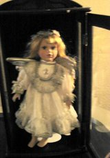 Reduced PORCELAIN ANGEL DOLL IN DISPLAY CASE in Quantico, Virginia