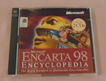Microsoft Encarta 98 encyclopedia PC cd-rom 2 disc set CDrom Software in Westmont, Illinois