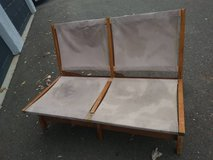 Canvass Wood Fold Up Two Seat Bench in Roseville, California