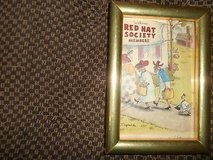 "Framed Re-print RED HAT SOCIETY Photo! 4"" x 6"" in Bellaire, Texas"