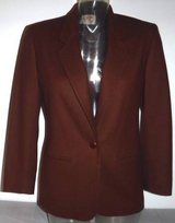 Sz 4P Pendleton Virgin Wool Classic Blazer / Brown Jacket in Orland Park, Illinois