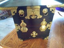 Asian Box with Drop Down Lid and Characters inside in Vacaville, California