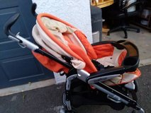 Peg Perego Stroller orange and creme in Vacaville, California
