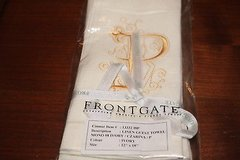 "frontgate linen guest towels letter""p"" - never opened in Kingwood, Texas"