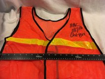 lot of 6 plastic reflective orange yellow road guard running safety vest  02556 in Fort Carson, Colorado