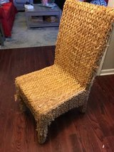 Seagrass hyacinth dining accent chair in Beaufort, South Carolina