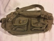 olive drab green carry handles military style canvas cotton shoulder bag purse  02561 in Fort Carson, Colorado