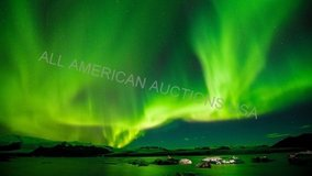 aurora borealis northern lights over a lake glossy 8x10 photo hd cinescope  02588 in Fort Carson, Colorado