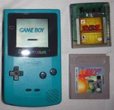 Nintendo Game Boy Color Teal Blue Handheld System + 2 Games in Westmont, Illinois