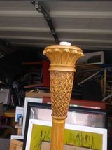 Wood Stand UP Pineapple Lamp in Roseville, California