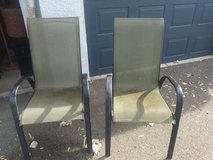 2 olive green Canvas Lawn Chairs in Roseville, California
