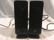logitech black r-10 model s-0152a1 double 10 tall computer desk speakers  02420 in Fort Carson, Colorado