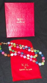 "KJL Kenneth Jay Lane Glass Bead Necklace Simulated Stone Knotted 36"" in St. Charles, Illinois"