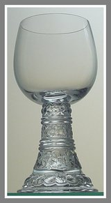 4 Crystal Bacchus all-purpose wine goblet by Rosenthal Thomas, Germany, 1970-1980s in Fairfax, Virginia