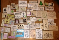 Rubber Wood Stamp Huge  Lot  Some Inked Some Never Inked in St. Charles, Illinois